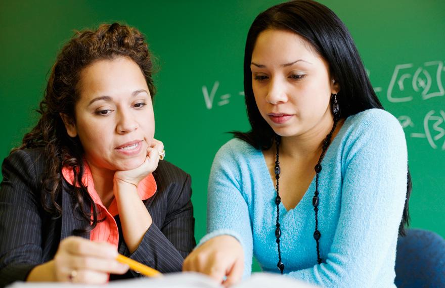 Parent and Teacher talking